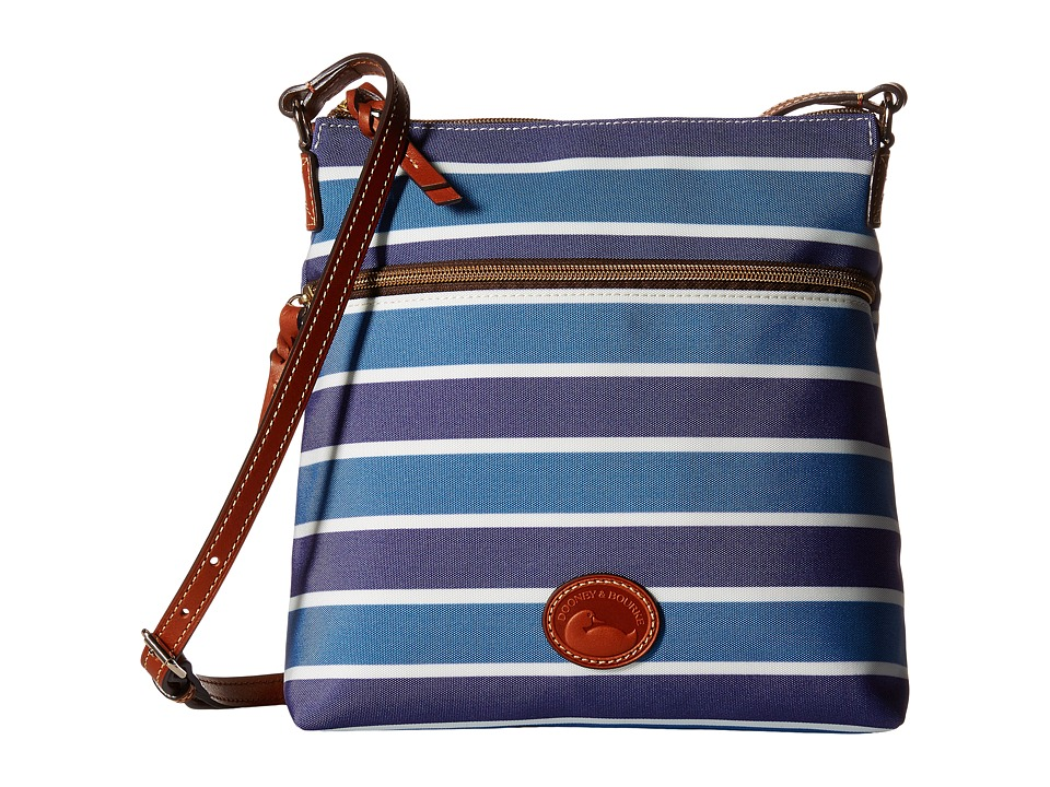 Dooney amp Bourke Eastham Crossbody Blue/Navy/White/Tan Trim Cross Body Handbags