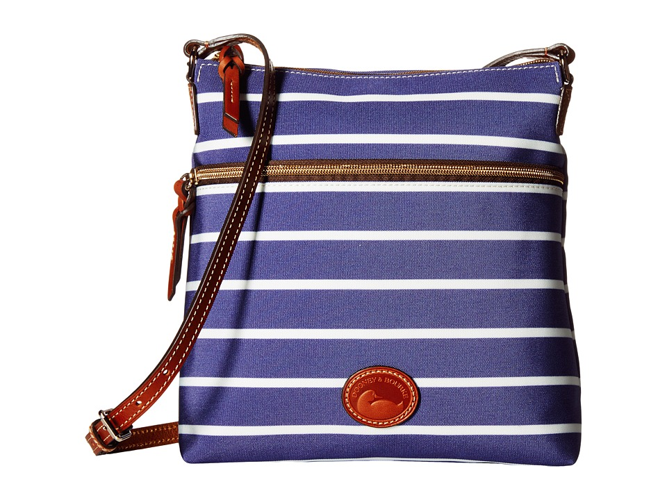Dooney amp Bourke Eastham Crossbody Navy/Navy/White/Tan Trim Cross Body Handbags