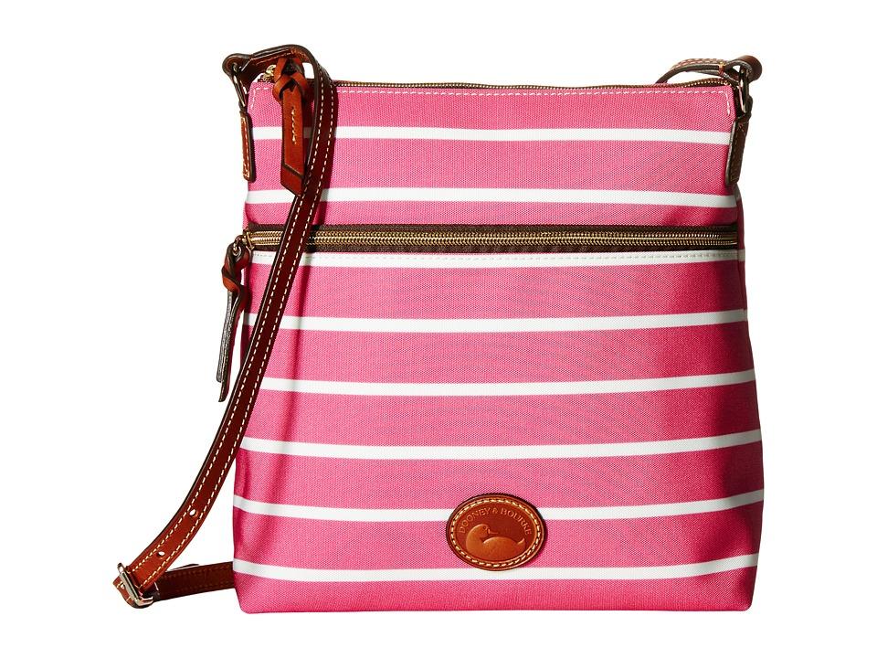Dooney amp Bourke Eastham Crossbody Hot Pink/Hot Pink/White/Tan Trim Cross Body Handbags