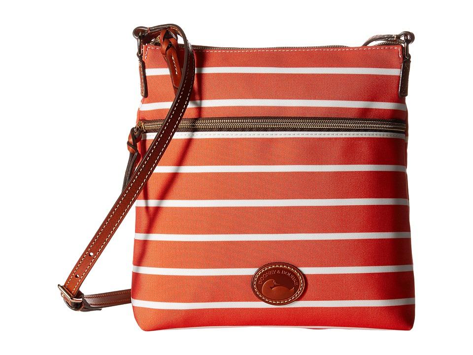 Dooney amp Bourke Eastham Crossbody Tangerine/Tangerine/White/Tan Trim Cross Body Handbags