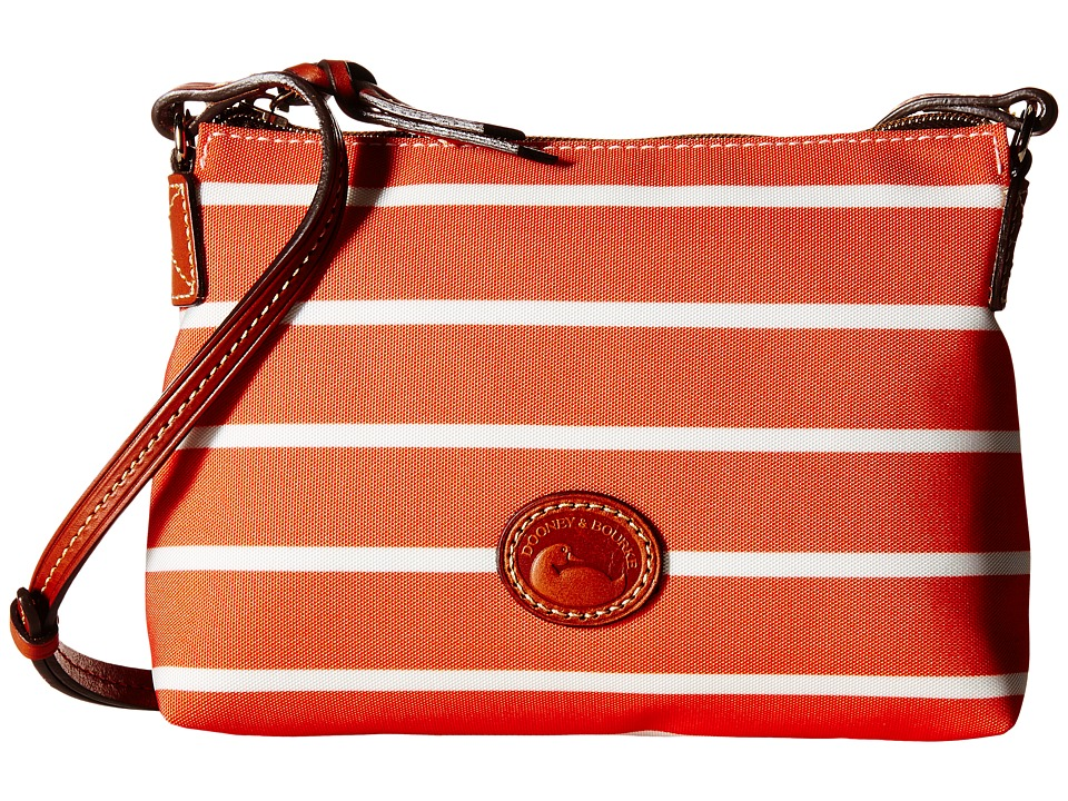Dooney & Bourke - Eastham Crossbody Pouchette (Tangerine/Tangerine/White/Tan Trim) Cross Body Handbags