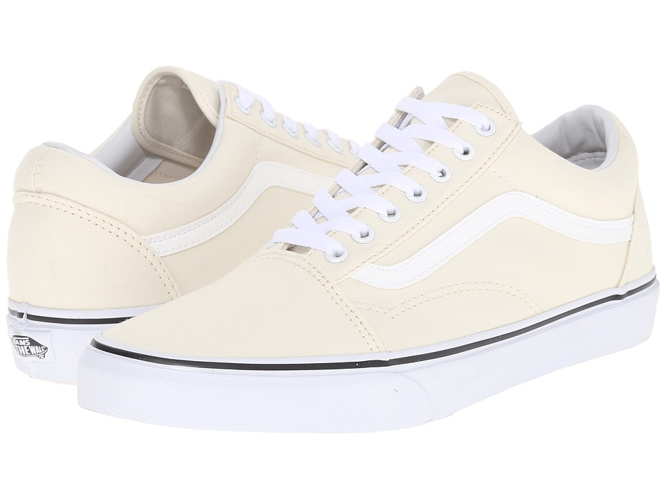 Vans Old Skool Canvas Classic White Skate Shoes