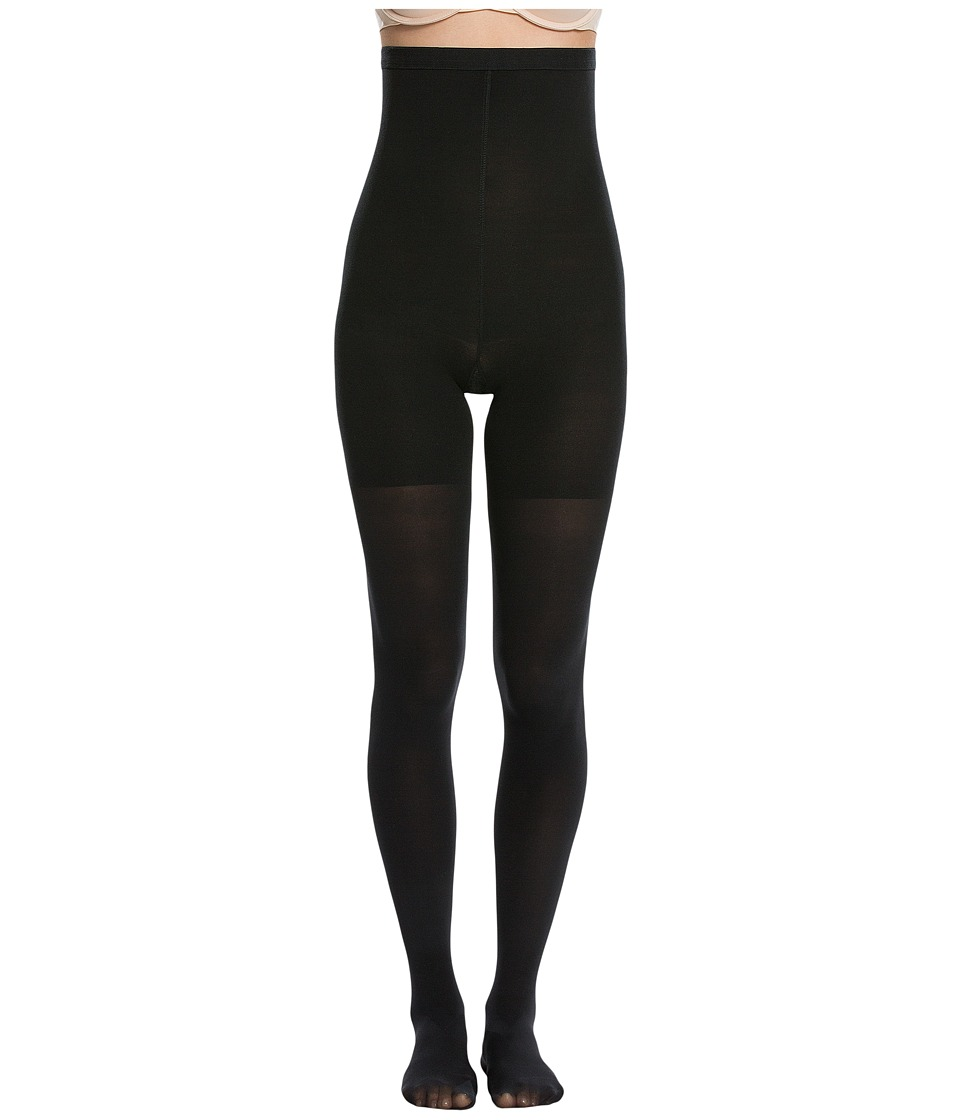 Spanx Luxe Leg High Waisted Shaping Tights Very Black Hose