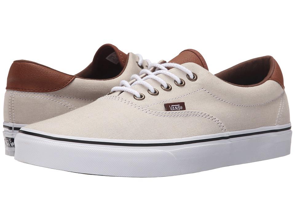 Vans Era 59 Oxford amp Leather Khaki/True White Skate Shoes