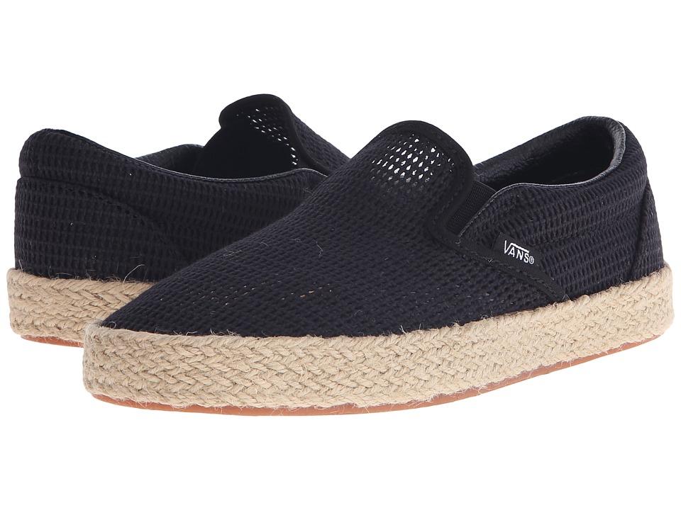 Vans Classic Slip-On Espadrille ((Mesh) Black) Slip on Shoes