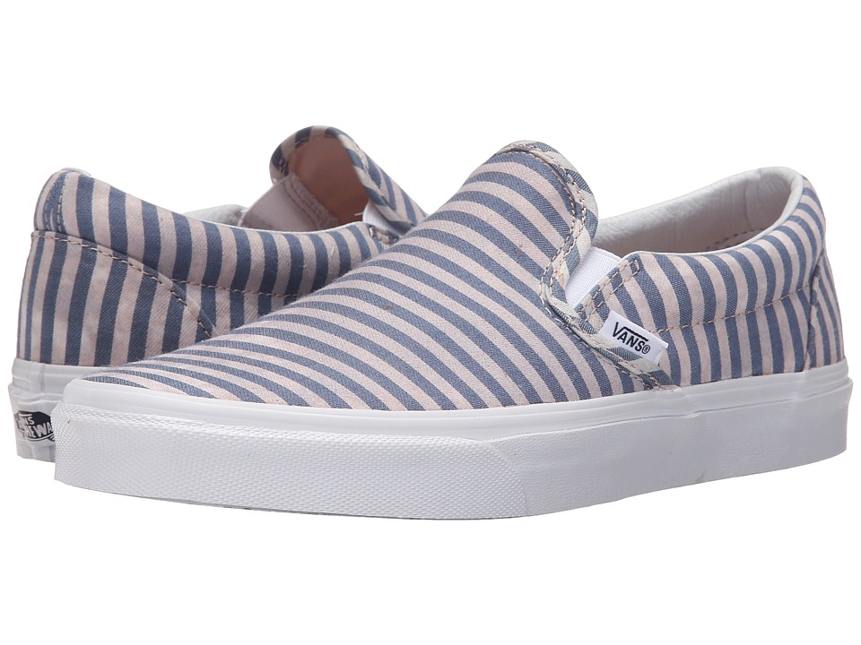 Vans - Classic Slip-On ((Stripes) Navy) Skate Shoes