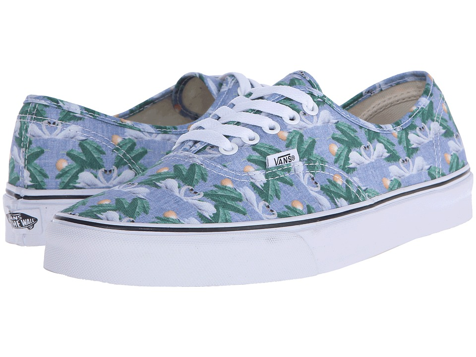 Vans - Authentic ((Chambray) Swan/True White) Skate Shoes