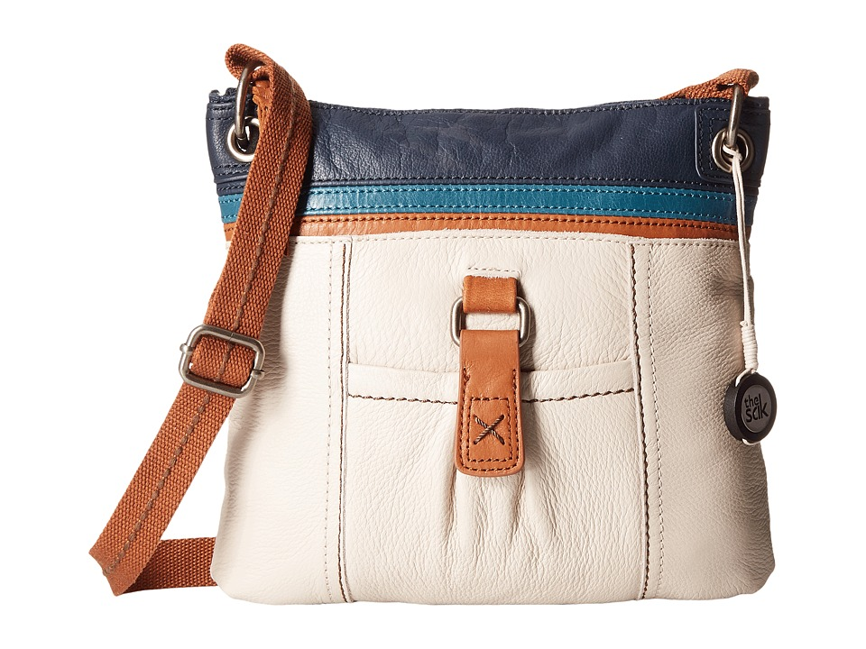 The Sak - Kendra Leather Crossbody (Stone Stripe) Cross Body Handbags