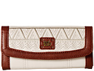 The Sak Iris Flap Wallet (Stone Tribal Quilt)