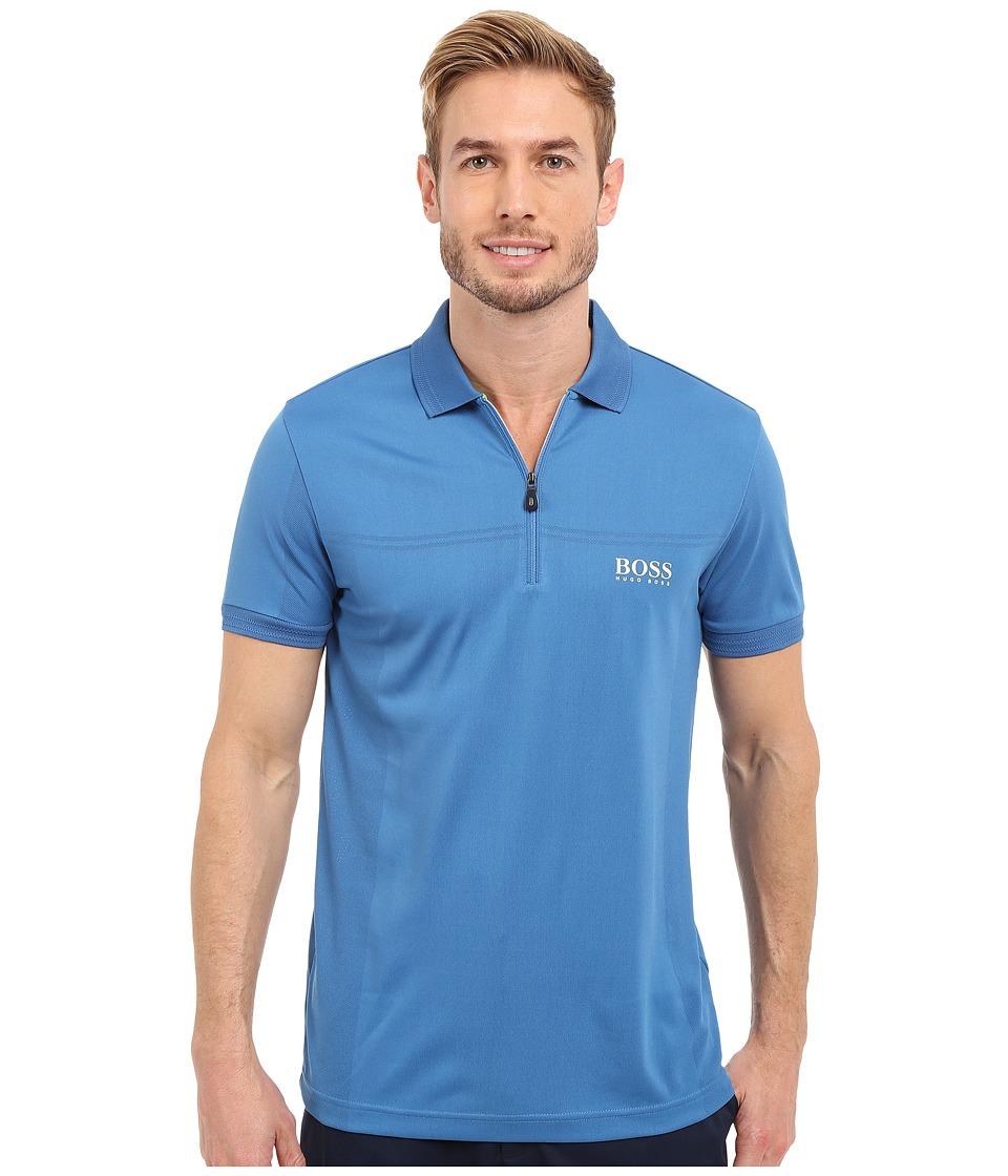 BOSS Green Prek Pro 10189534 01 Light Pastel Blue Mens Short Sleeve Knit
