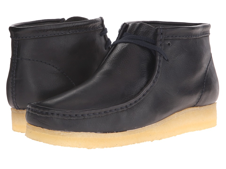 Clarks Wallabee Boot Navy Mens Lace up Boots