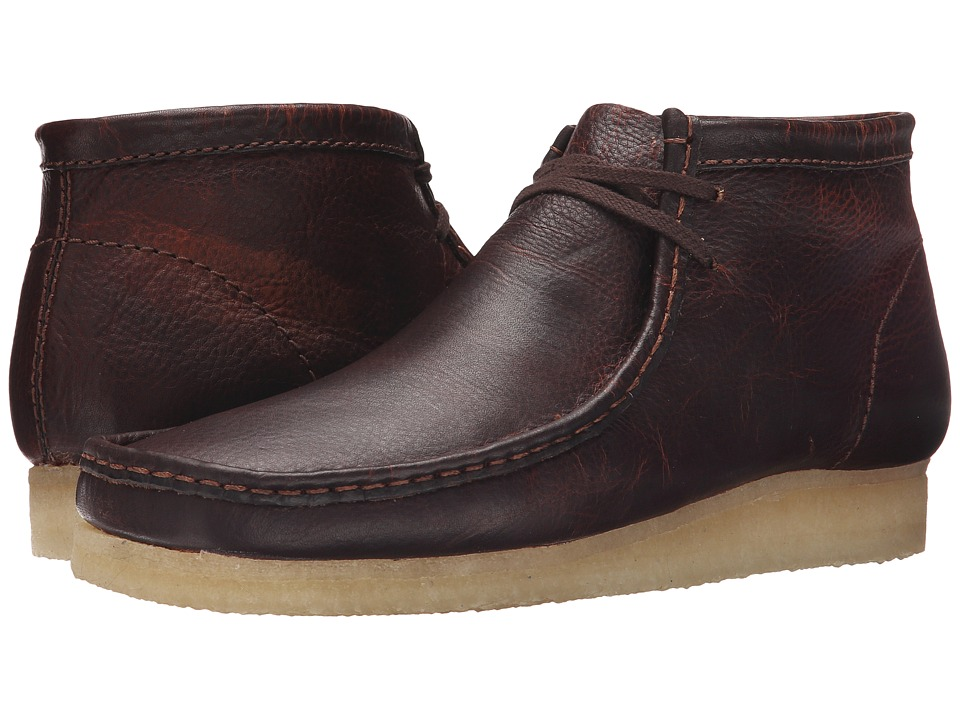 Clarks Wallabee Boot Rust Leather Mens Lace up Boots