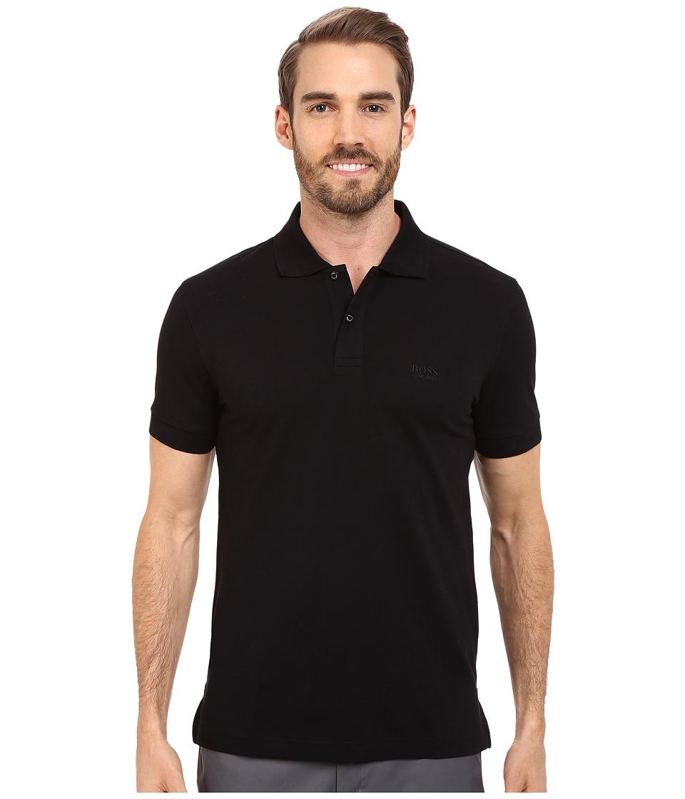 BOSS Green C Firenze/Logo 10108 Black Mens Short Sleeve Knit