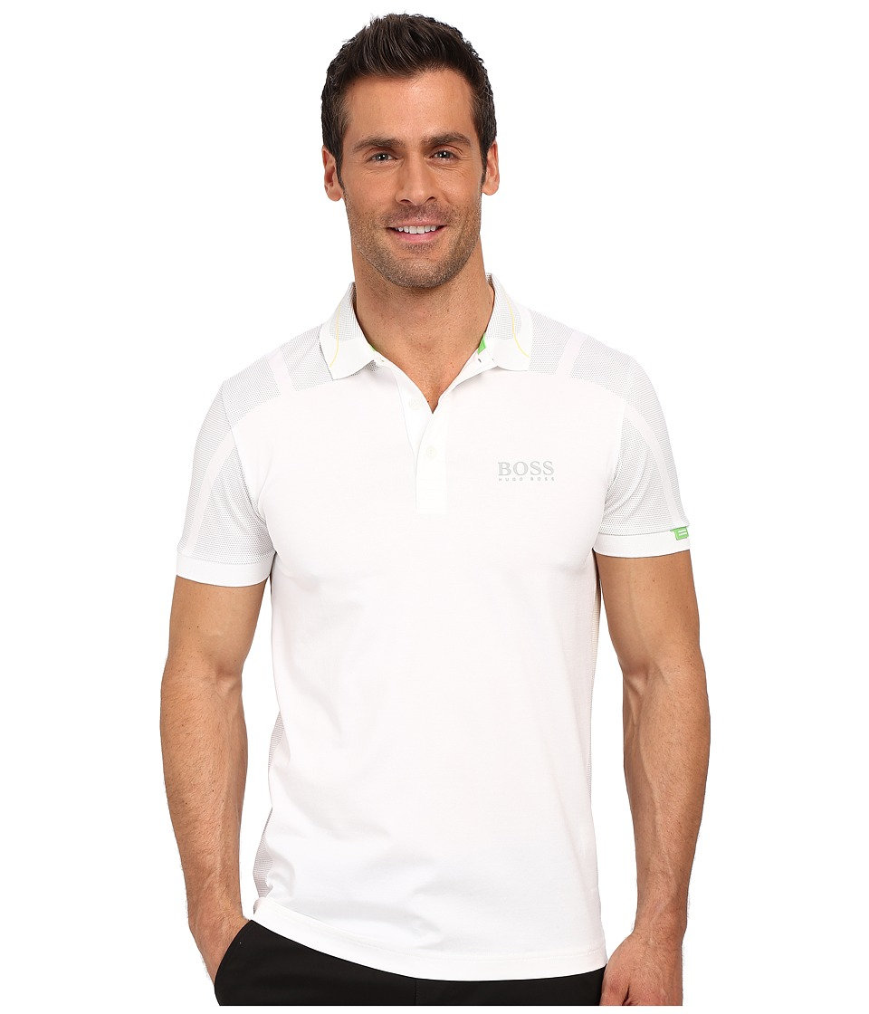 BOSS Green Paddy MK 2 10159200 White Mens Short Sleeve Knit