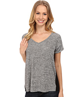 Calvin Klein Jeans - Short Sleeve V-Neck Keyhole Tee with Foil