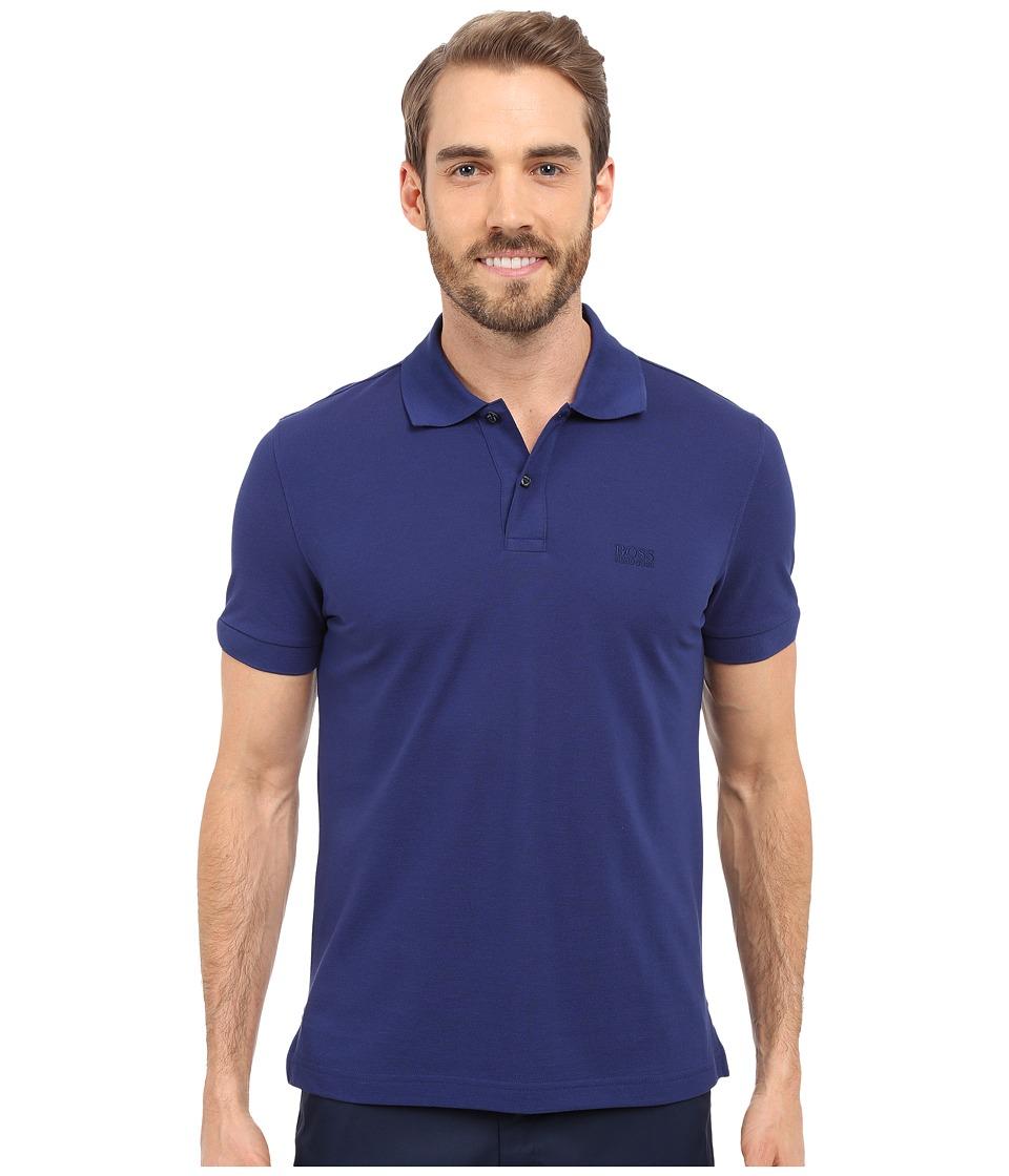 BOSS Green C Firenze/Logo 10108 Open Blue Mens Short Sleeve Knit