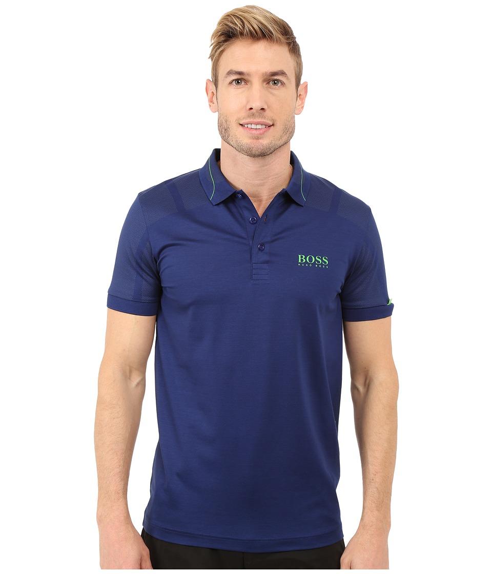 BOSS Green Paddy MK 2 10159200 Open Blue 2 Mens Short Sleeve Knit