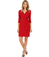 Adrianna Papell - 3/4 Sleeve Lap Over Dress