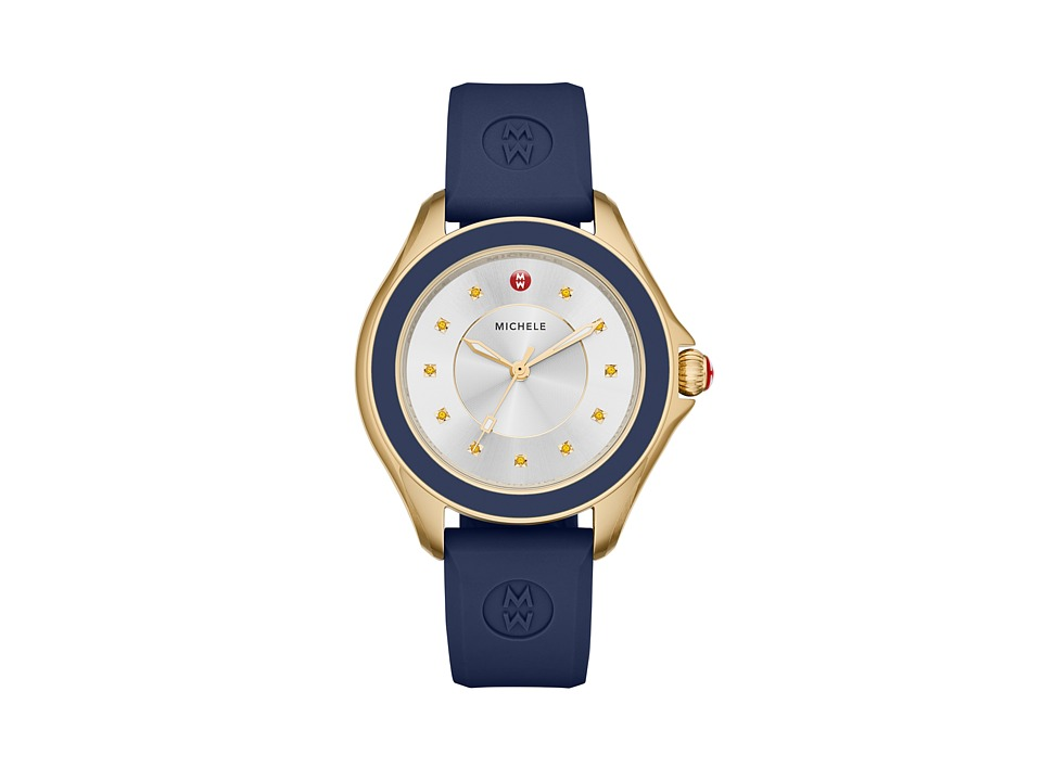 Michele - Cape Topaz Gold Tone Navy (Gold) Watches