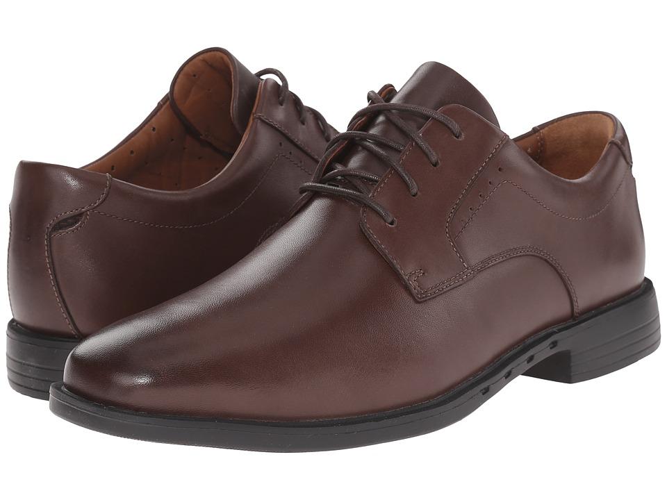 Clarks - Un.Bizley Plain (Dark Brown Leather) Men