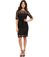 Adrianna Papell - Elbow Sleeve Illusion Sheath Dress