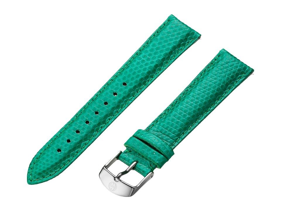 Michele Strap 18mm Emerald Lizard Lizard Watches