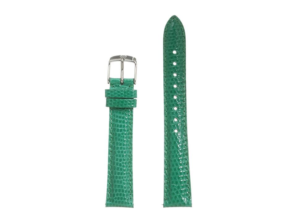 Michele Strap 16mm Emerald Lizard Lizard Watches