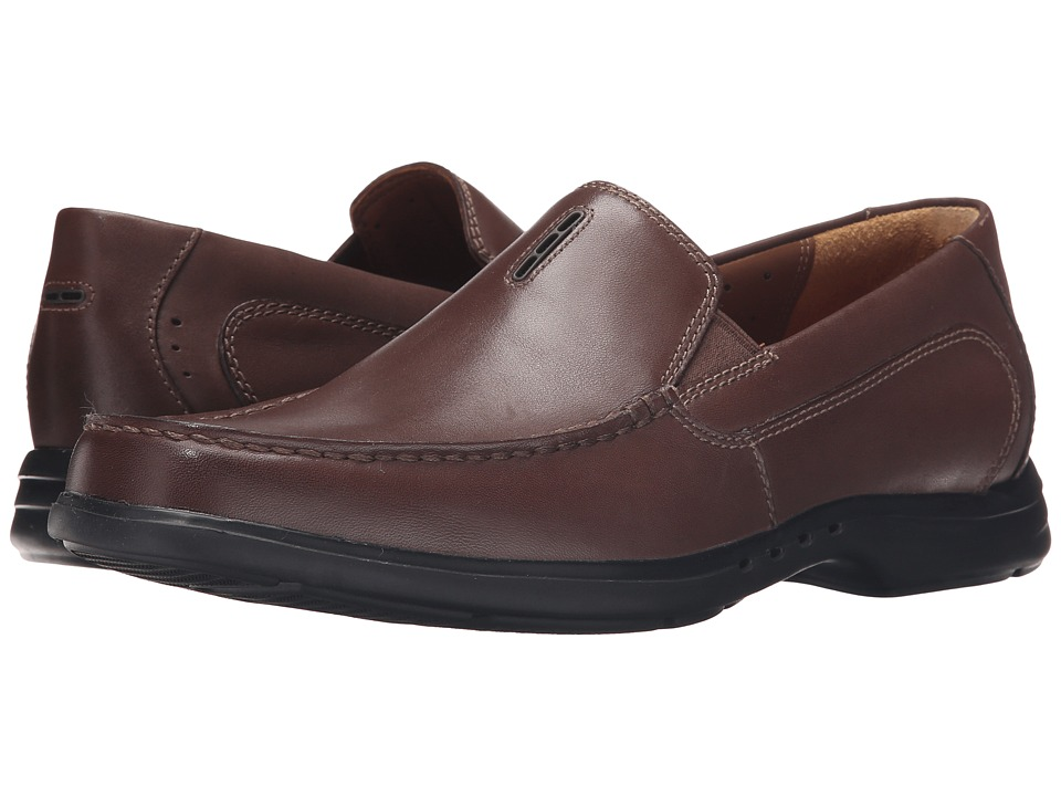 Clarks - Un.Easley Twin (Dark Brown Leather) Men