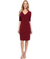 Adrianna Papell - V-Neck Bodycon Sweater Dress