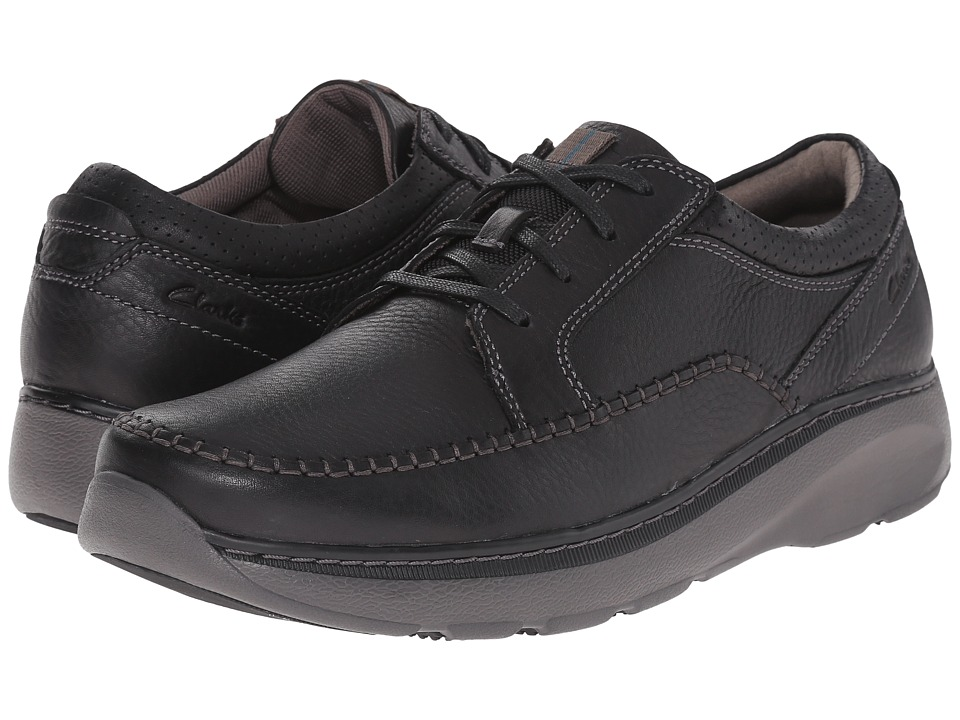 Clarks - Charton Vibe (Black Leather) Mens Lace up casual Shoes