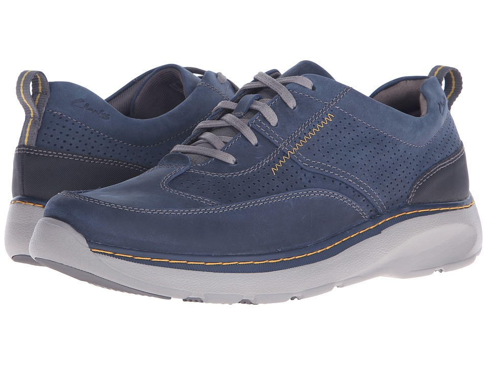 Clarks - Charton Mix (Navy Leather) Mens Lace up casual Shoes