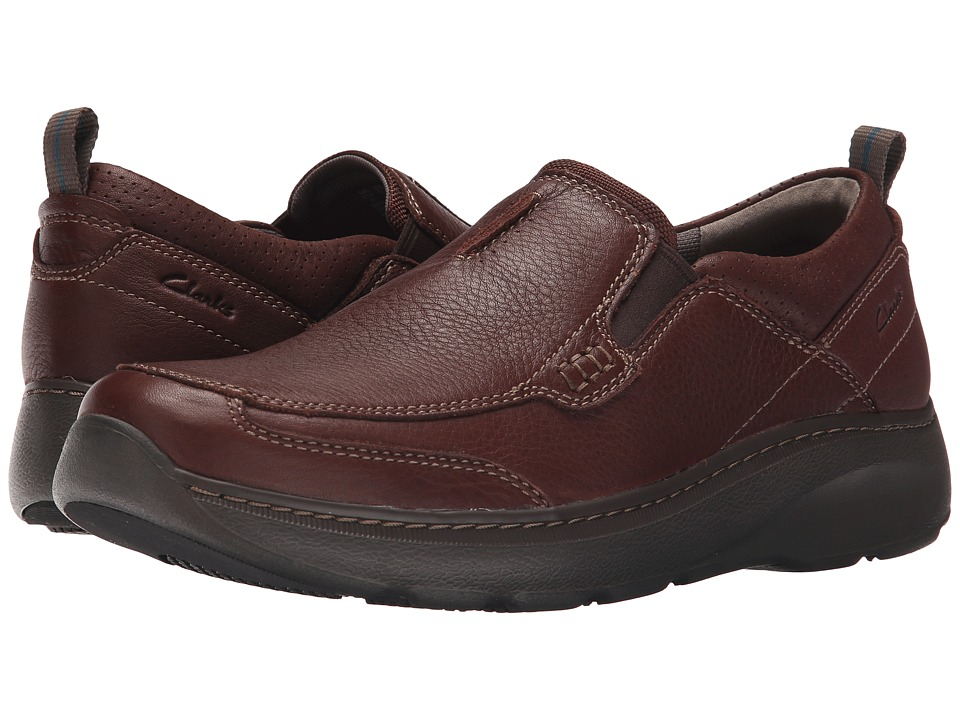 Clarks - Charton Step (Brown Leather) Mens Slip on  Shoes