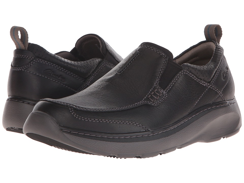 Clarks Charton Step (Black Leather) Men