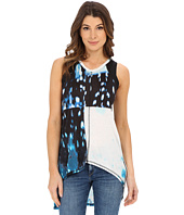 Calvin Klein Jeans - Printed Mixed Media Halter Tunic