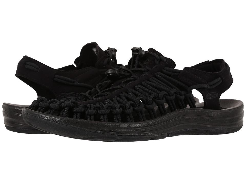 Keen Uneek (Black/Black) Women's Toe Open Shoes
