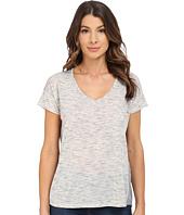 Calvin Klein Jeans - Short Sleeve V-Neck Keyhole Heather Tee