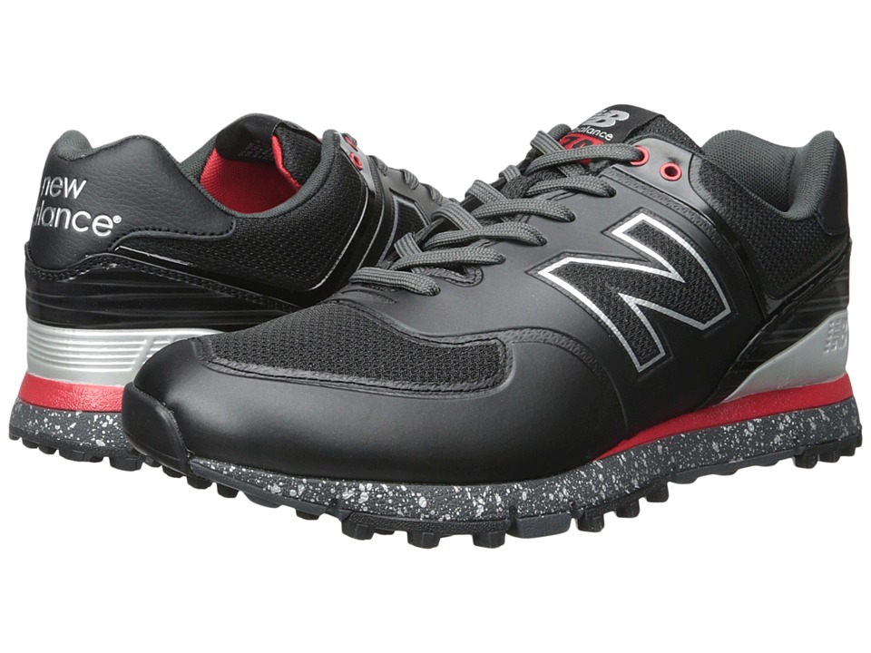 New Balance Golf - NBG574B (Black/Red) Mens Golf Shoes