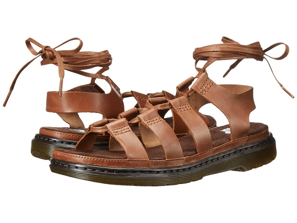 Dr. Martens - Kristina Ghillie Sandal (Tan Polished Oily Illusion) Women's Sandals