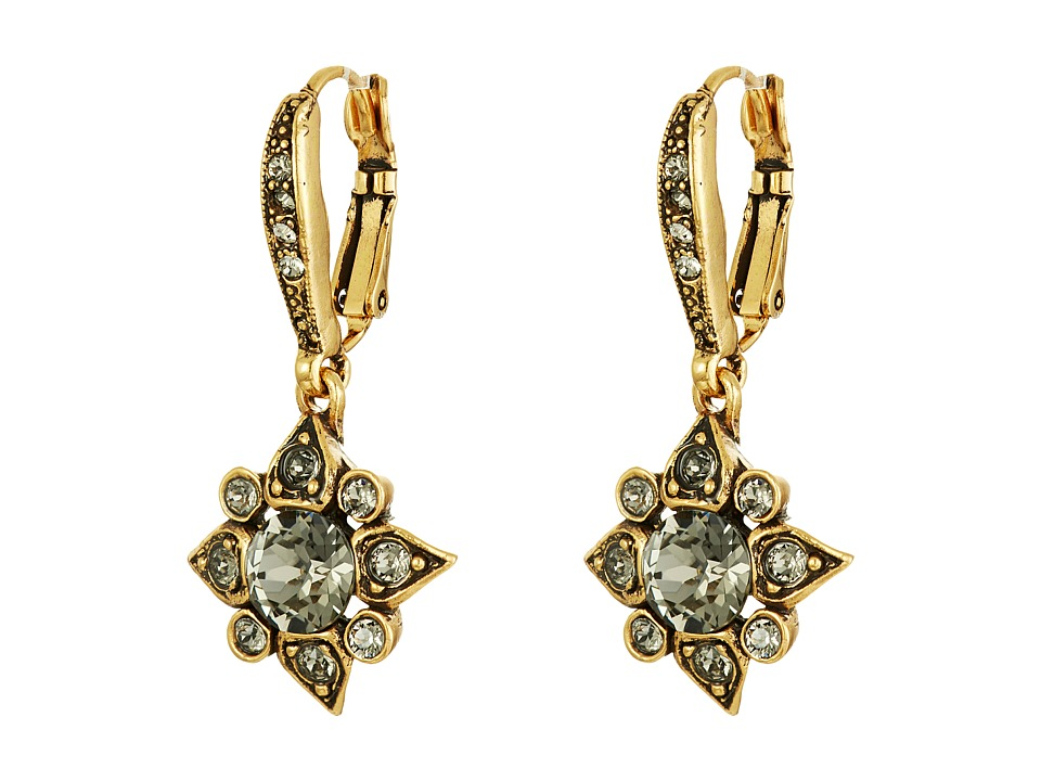 Oscar de la Renta Delicate Star Earring (Black Diamond) E...