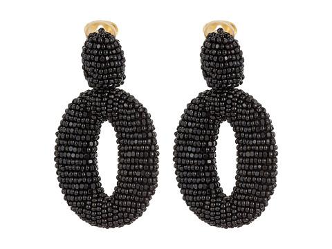 Oscar de la Renta Classic Oscar O C Earrings - Black