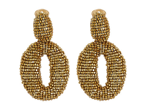 Oscar de la Renta Classic Oscar O C Earrings - Gold