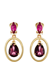 Oscar de la Renta - Multi Crystal Small C Earrings