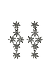 Oscar de la Renta - Crystal Pave Flower Drop P Earrings