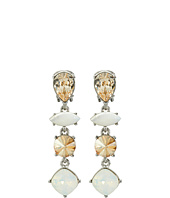 Oscar de la Renta - Semi-Precious Crystal Drop C Earrings