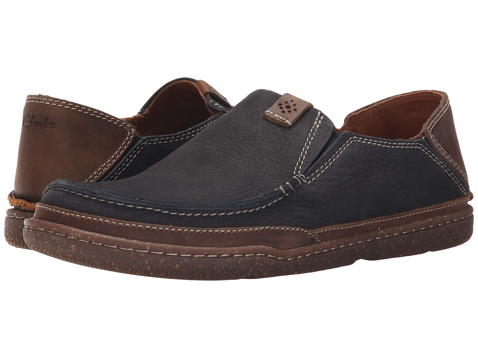 Clarks - Trapell Form (Navy Nubuck) Men