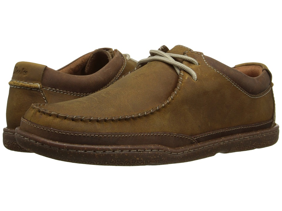 Clarks Trapell Pace (Tan Leather) Men