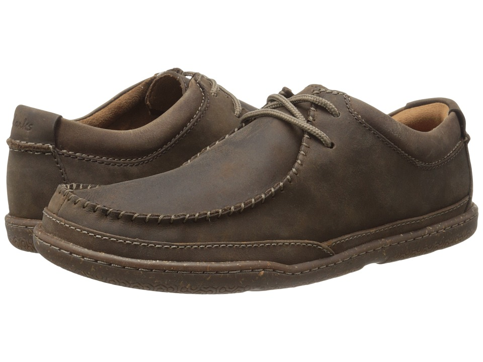 Clarks Trapell Pace (Dark Brown Leather) Men