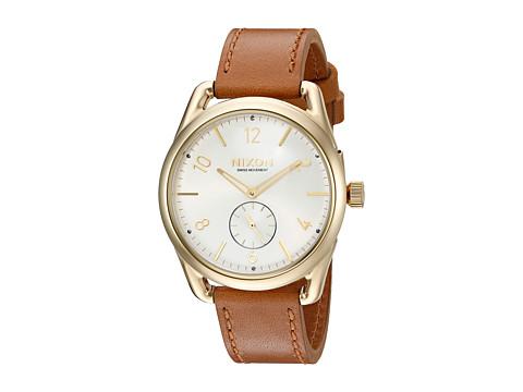 Nixon C39 Leather - Gold/Saddle/White