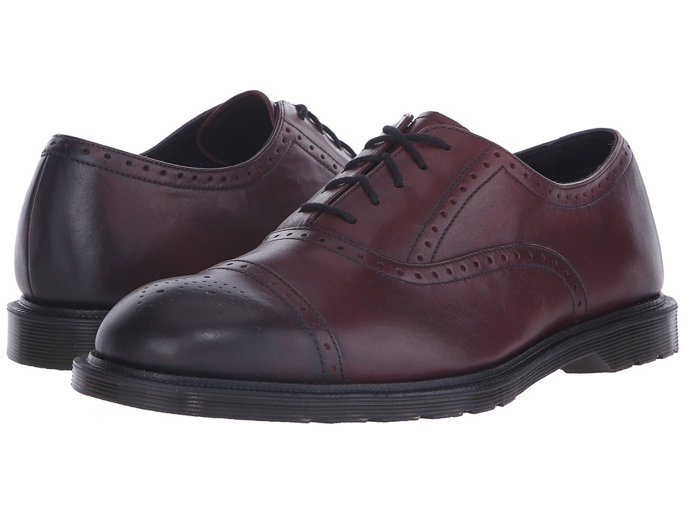 Dr. Martens - Morris Brogue Shoe (Cherry Red Temperely) Men
