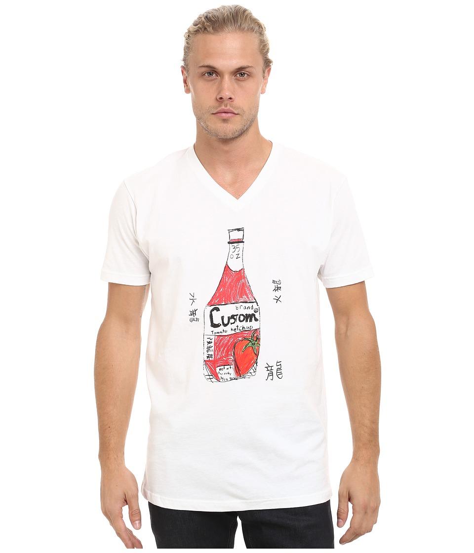 Custom Ketchup V Neck Ketchup White Mens Clothing